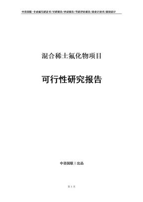 混合稀土氟化物项目可行性研究报告.doc
