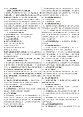 企业人力资源管理师一级复习资料.docx