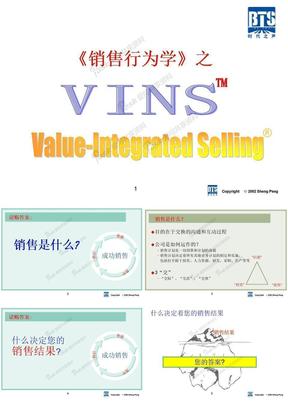 VINS的培训--销售行为学.ppt