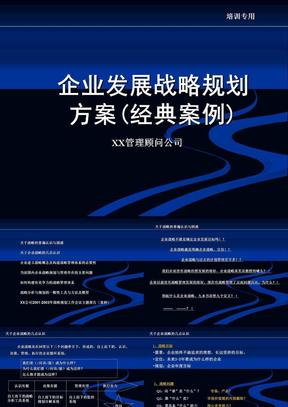 企业发展战略规划方案(经典案例).ppt