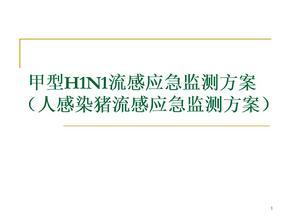 甲型H1N1流感应急监测方案  ppt课件.ppt