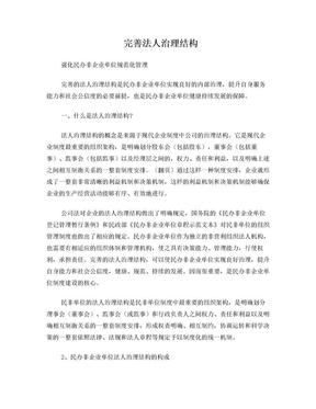 民办非企业单位法人结构治理.doc