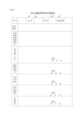 优秀毕业生审批表.doc