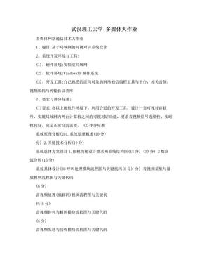 武汉理工大学 多媒体大作业.doc