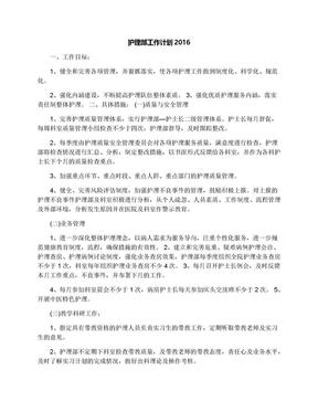 护理部工作计划2016.docx