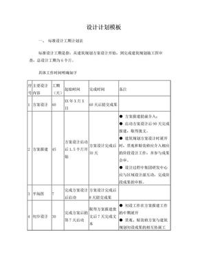 房地产项目设计计划模板.doc