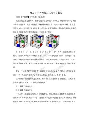 魔方【十字天书】三阶十字教程.doc