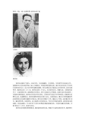 《色,戒》故事原型--郑苹如刺丁案.doc
