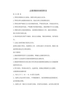 志愿消防队制度职责.doc