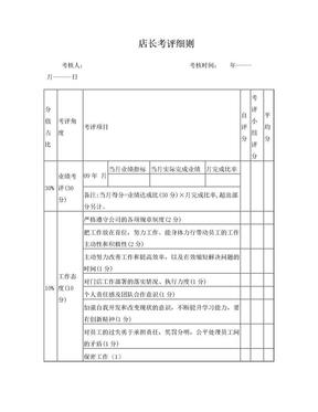 零售专卖店店长绩效考核表.doc