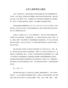 工商管理专业实习报告.doc