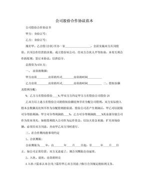 公司股份合作协议范本.doc