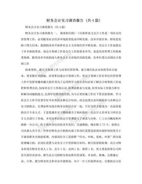 财务会计实习调查报告 (共4篇).doc