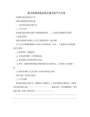机关团委改选及团支部书记产生方案.doc