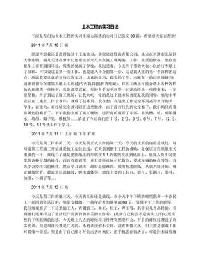 土木工程的实习日记.docx