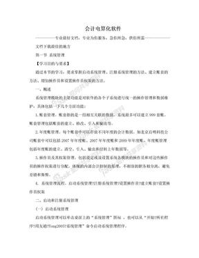 会计电算化软件.doc