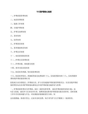 18项护理核心制度.docx