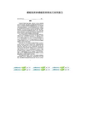 磷酸钒锂和磷酸铁锂锂相关材料报告.doc
