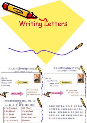 英文书信及信封格式.ppt