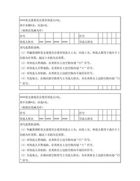 党支部委员会委员选票.doc