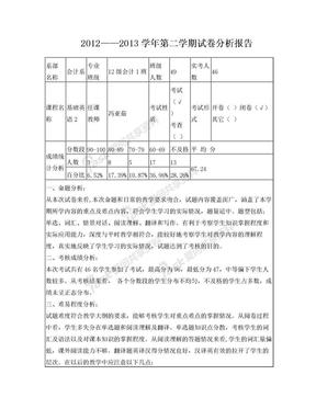 考试试卷分析报告.doc
