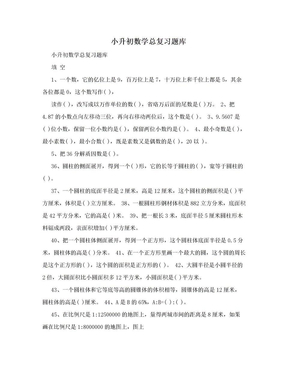 小升初数学总复习题库.doc