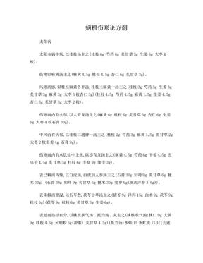 病机伤寒论方剂(新整理,附方剂).doc