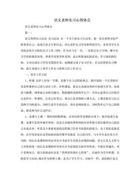 语文老师实习心得体会.doc