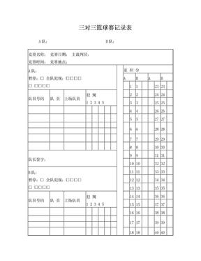3V3篮球比赛记录表.doc