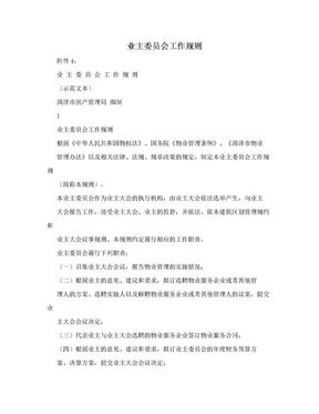 业主委员会工作规则.doc