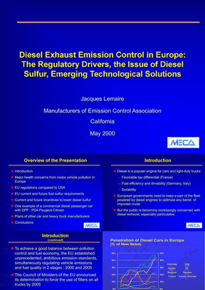 Diesel Exhaust Emission Control in Europe.ppt