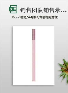 销售团队销售录入统计表Excel模板.xlsx