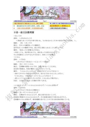 日语能力一级文法整理篇.pdf