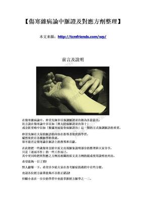伤寒杂病论中脉证及对应方剂整理.doc