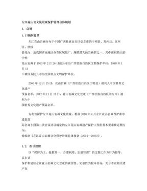 左江花山岩文化景观保护官理总体规划.doc
