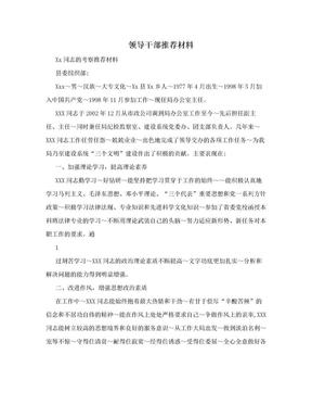 领导干部推荐材料.doc