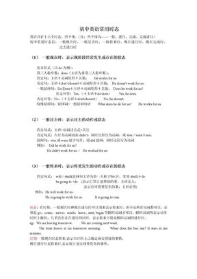 初中英语常用时态总结.doc