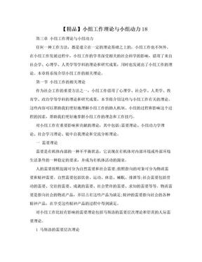 【精品】小组工作理论与小组动力18.doc