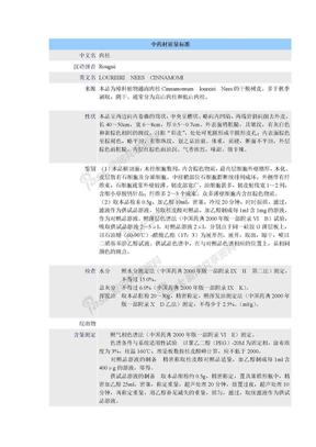 中药材质量标准-肉桂.doc