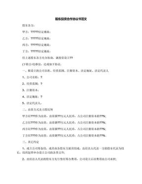 股东投资合作协议书范文.docx