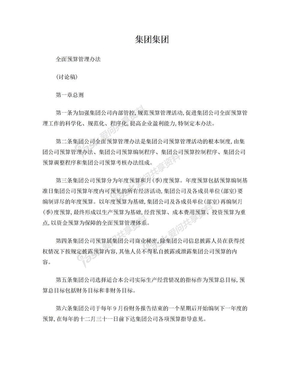 集团公司全面预算管理办法.doc