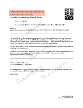 不确定性、演化与经济理论.pdf