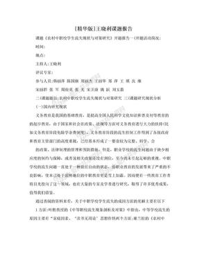 [精华版]王晓利课题报告.doc