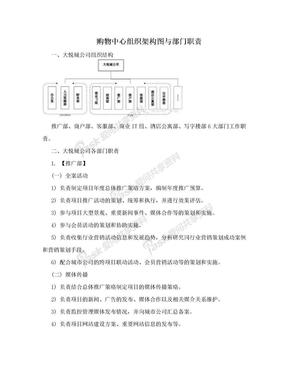 购物中心组织架构图与部门职责.doc