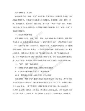 农村电网改造工作总结.doc