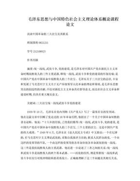 浅谈中国革命的三大法宝及其现实意义.doc