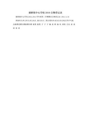 谢桥镇中心学校2010公物登记表.doc