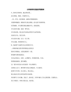 小学老师作文批改评语集锦.docx