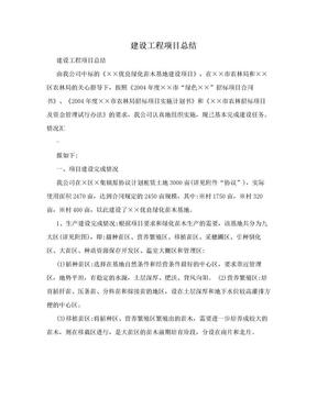 建设工程项目总结.doc
