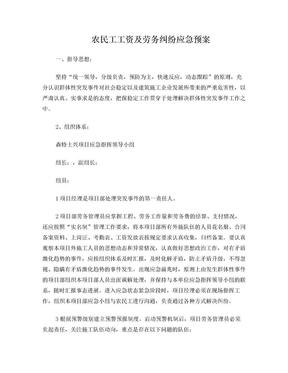 农民工工资及劳务纠纷应急预案.doc